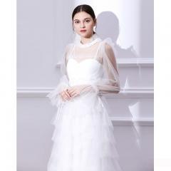 很仙的晚礼服裙露背显瘦 Udear冬新款年会宴会婚礼主持白色礼服女